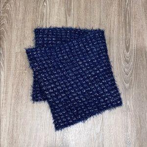 Chunky Vibrant Blue Infinity Scarf